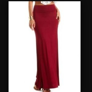 🌹RED MAXI SKIRT🌹